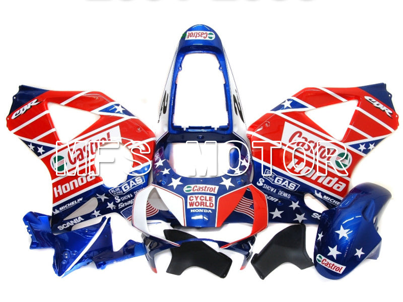 Injection ABS Fairing For Honda CBR900RR 954 2002-2003 - Castrol - Blue Red - MFS5974 - shopping and wholesale