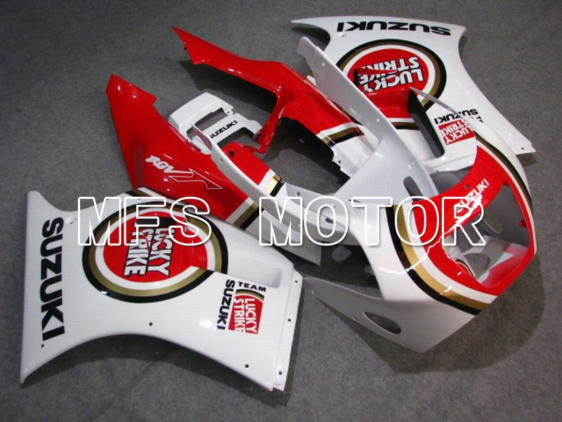 ABS Fairing For Suzuki RGV250 VJ21 - Lucky Strike - Hvid Rød - MFS6185 - Shopping og engros
