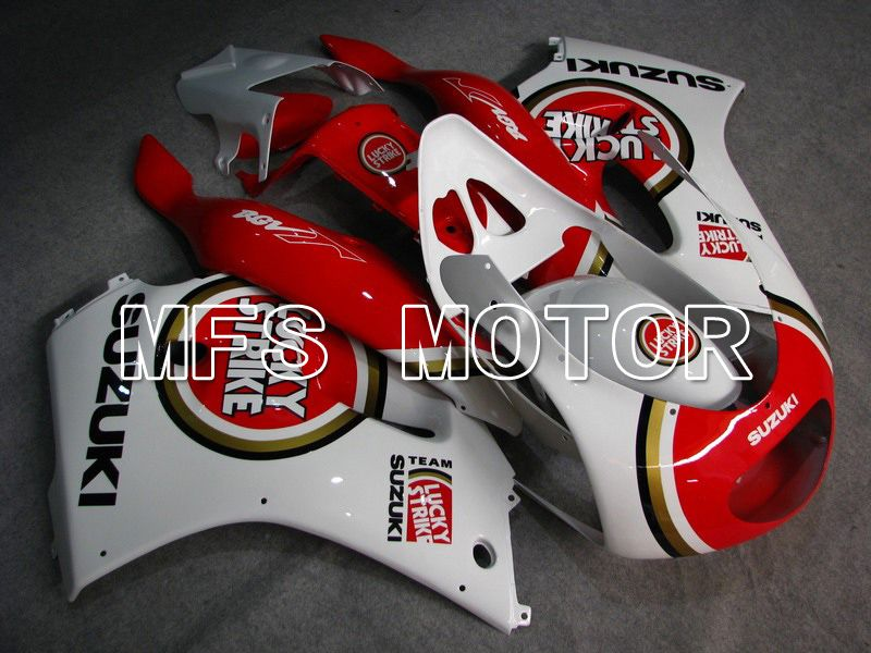 ABS Fairing For Suzuki RGV250 VJ23 1996-1999 - Lucky Strike - Rødhvide - MFS6211 - Shopping og engros