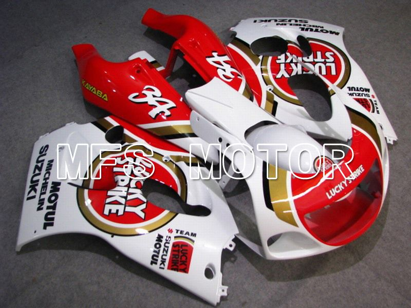 ABS Fairing For Suzuki RGV250 VJ23 1996-1999 - Lucky Strike - Rødhvide - MFS6214 - Shopping og engros
