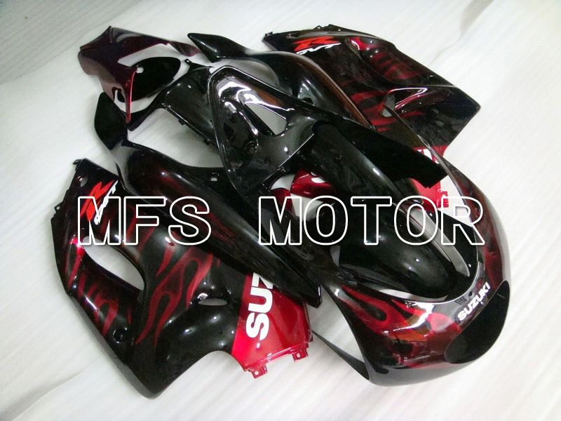 ABS Fairing For Suzuki RGV250 VJ23 1996-1999 - Flamme - Rød Sort - MFS6221 - Shopping og engros