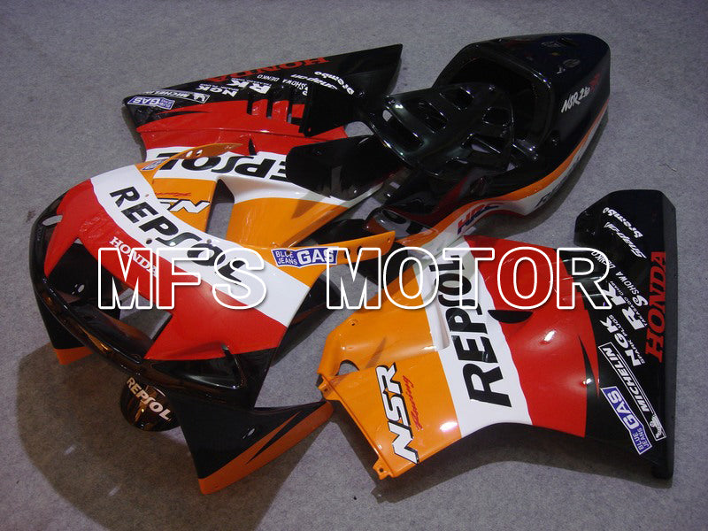 Injection ABS Fairing för Honda NSR250 MC21 1990-1993 - Repsol - Röd Svart Orange - MFS6244 - Shopping och grossist
