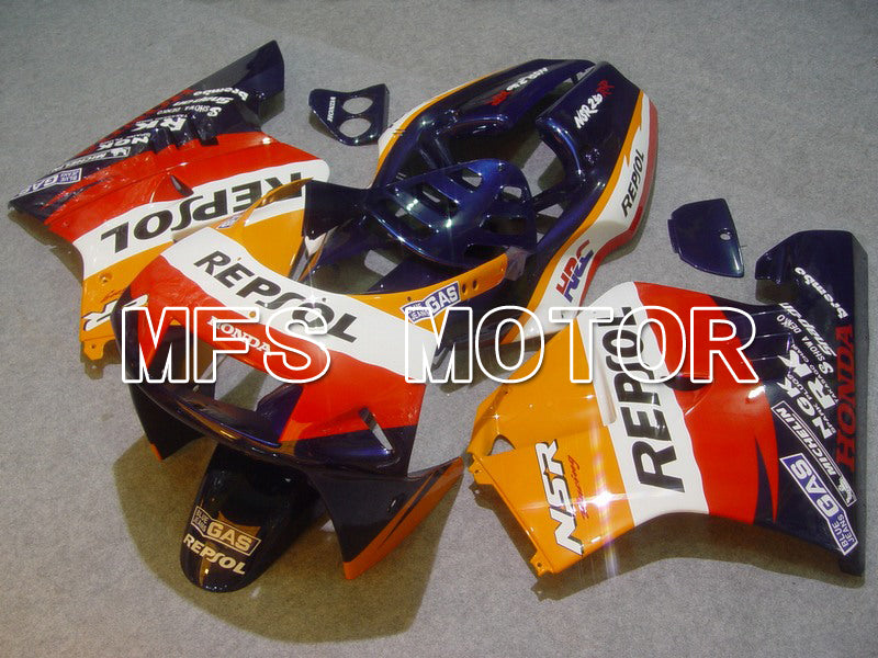 Injection ABS Fairing För Honda NSR250 MC21 1990-1993 - Repsol - Röd Blå Orange - MFS6246 - Shopping och grossist