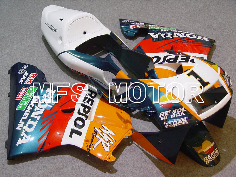 Injeksjon ABS Fairing For Honda NSR250 MC21 1990-1993 - Repsol - Hvit Blå Orange - MFS6247 - Shopping og engros