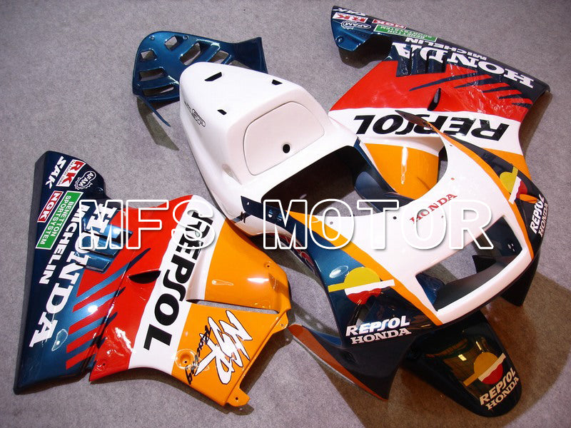 Iniezione ABS Carenatura per Honda NSR250 MC21 1990-1993 - Repsol - Bianco Blue Orange - MFS6248 - shopping e ingrosso