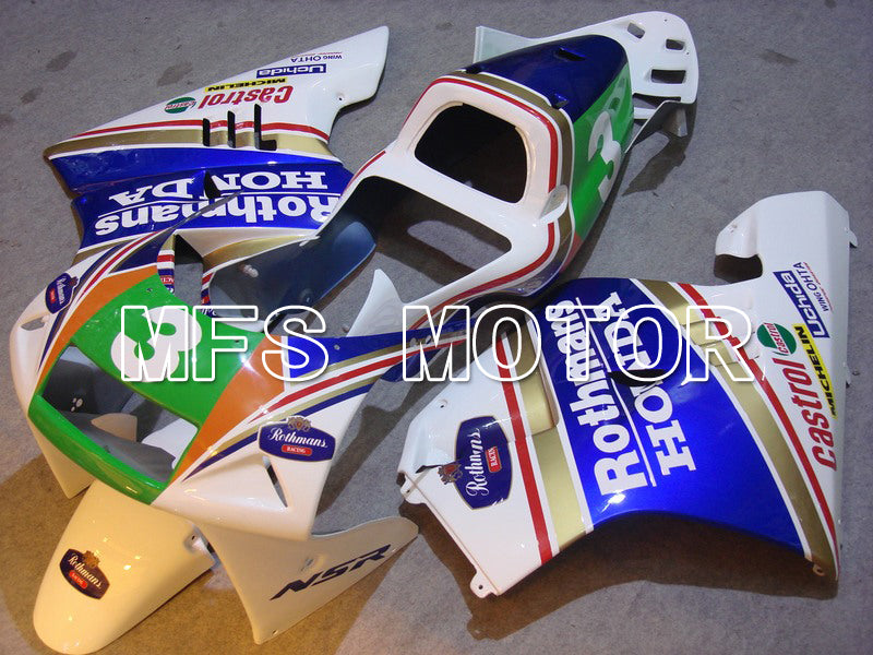Injection ABS Fairing för Honda NSR250 MC21 1990-1993 - Rothmans - Blåvit - MFS6251 - Shopping och grossist