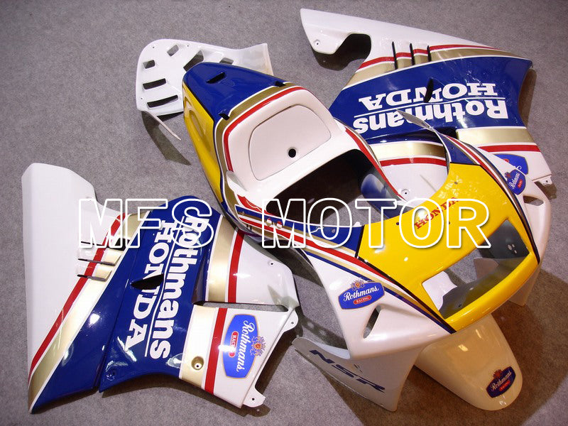 Injection ABS Fairing för Honda NSR250 MC21 1990-1993 - Rothmans - Blåvit - MFS6252 - Shopping och grossist