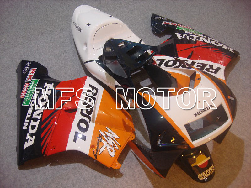 Injection ABS Fairing For Honda NSR250 MC28 P4 1994-1996 - Repsol - Vit Svart Orange - MFS6259 - Shopping och grossist