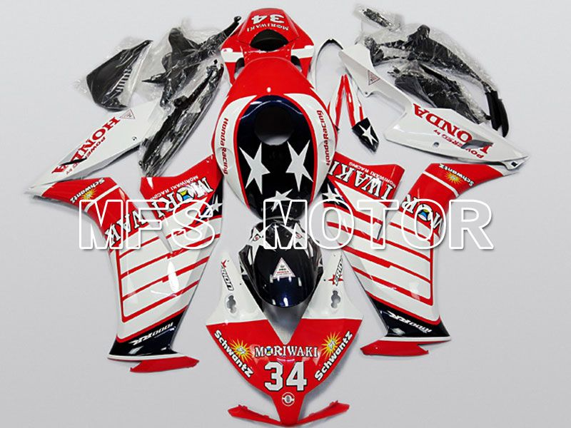 Injection ABS Fairing For Honda CBR1000RR 2012-2016 - Moriwaki - Red White - MFS6271 - shopping and wholesale