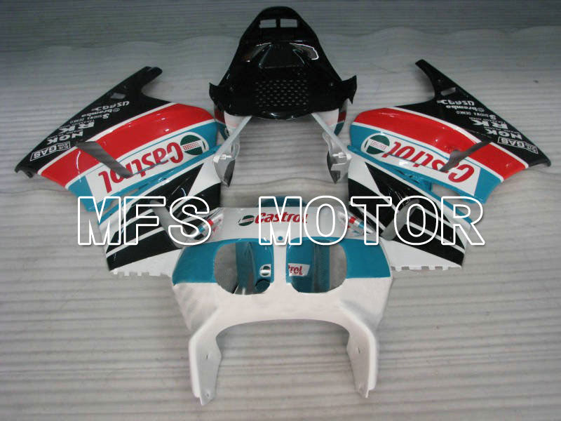 ABS Fairing For Honda VFR400R NC30 1990-1993 - Castrol - Blå Hvid Sort - MFS6291 - Shopping og engros