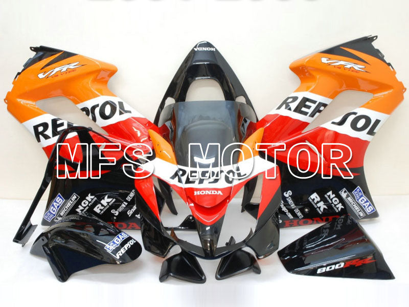 Carénage ABS d'injection pour Honda VFR800 2002-2013 - Repsol - Rouge Orange Noir - MFS6331 - Shopping et gros