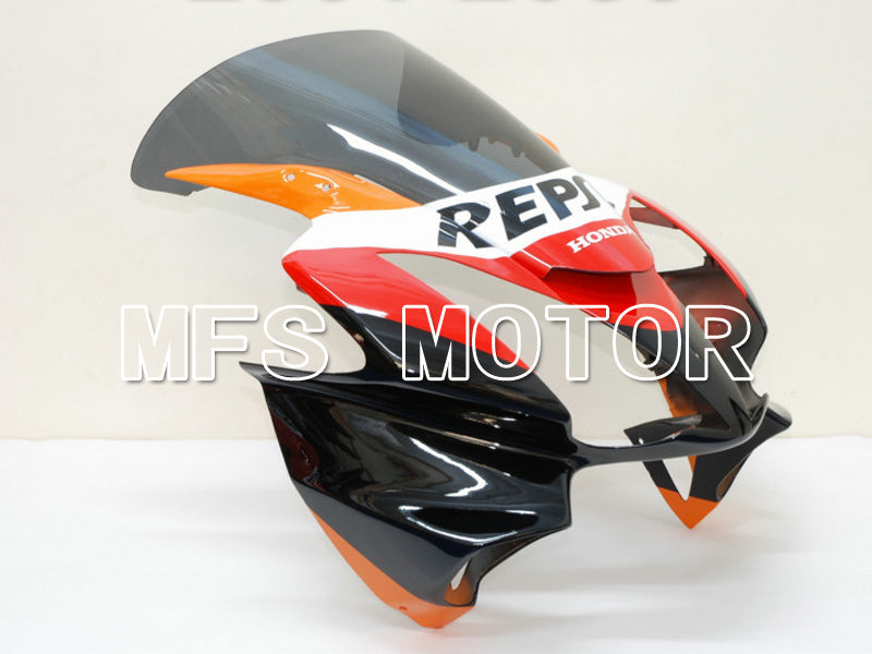 Injeksjon ABS Fairing For Honda VFR800 2002-2013 - Repsol - Rød Orange Svart - MFS6331 - Shopping og engros