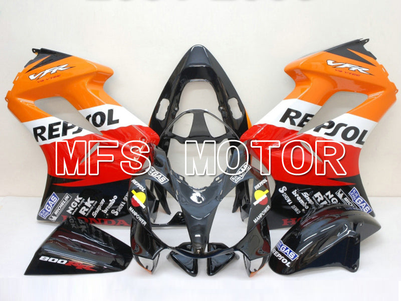 Injection ABS Fairing för Honda VFR800 2002-2013 - Repsol - Röd Orange Svart - MFS6334 - Shopping och grossist