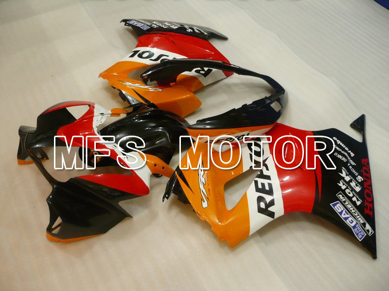 Injeksjon ABS Fairing For Honda VFR800 2002-2013 - Repsol - Rød Orange Svart - MFS6335 - Shopping og engros