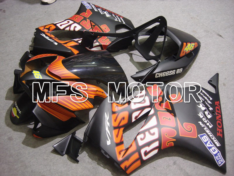 Injection ABS Fairing för Honda VFR800 2002-2013 - Rossi - Orange Svart - MFS6336 - Shopping och grossist