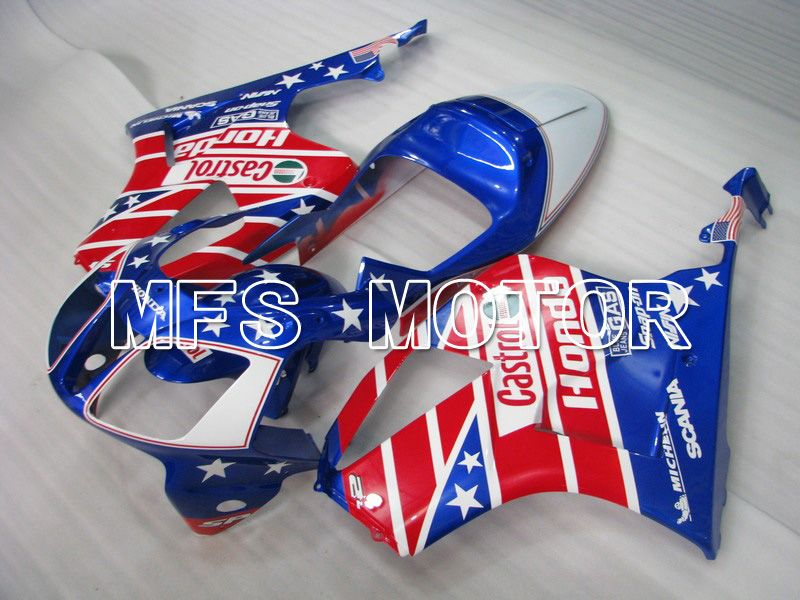 ABS Fairing For Honda VTR1000 RC51 2000-2006 - Castrol - Rød Blå - MFS6341 - Shopping og engros