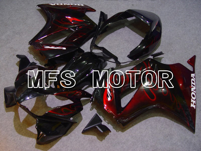 ABS Fairing For Honda VFR800 1998-2001 - Flame - Red Black - MFS6345 - shopping and wholesale