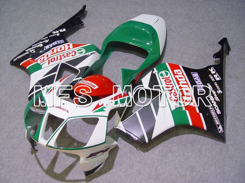 ABS Fairing For Honda VTR1000 RC51 2000-2006 - Castrol - Grønn Hvit - MFS6346 - Shopping og engros