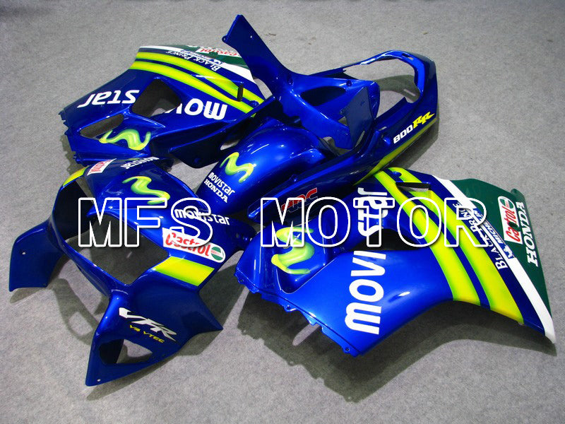ABS Fairing For Honda VFR800 1998-2001 - Movistar - Blue - MFS6358 - shopping and wholesale