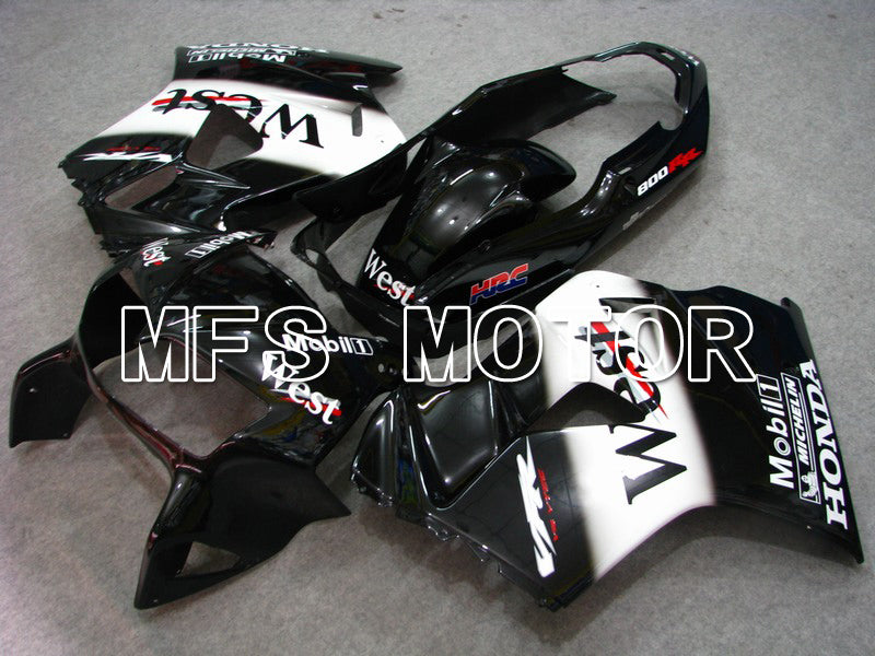 ABS Fairing For Honda VFR800 1998-2001 - West - Black White - MFS6385 - shopping and wholesale