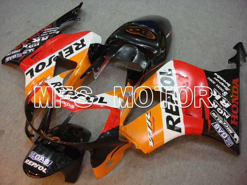 ABS Fairing For Honda VTR1000 RC51 2000-2006 - Repsol - Svart Rød Orange - MFS6399 - Shopping og engros