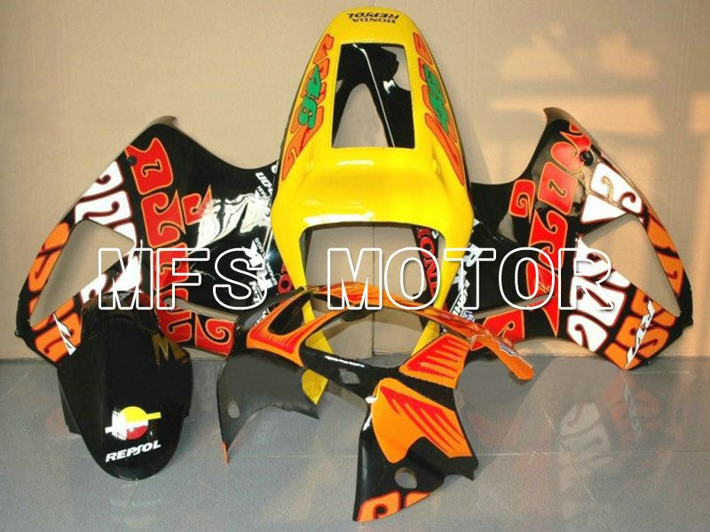 ABS Fairing For Honda VTR1000 RC51 2000-2006 - Rossi - Svart Oransje - MFS6400 - Shopping og engros