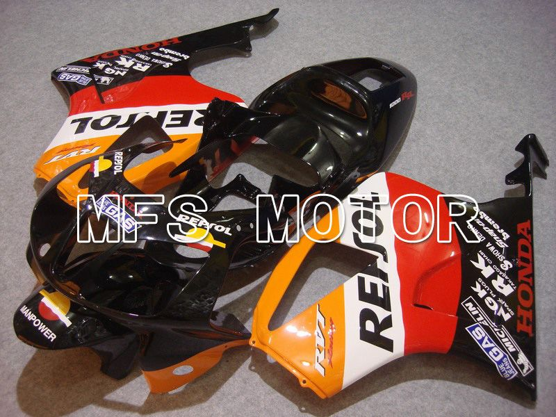 ABS Fairing For Honda VTR1000 RC51 2000-2006 - Repsol - Svart Rød Orange - MFS6403 - Shopping og engros