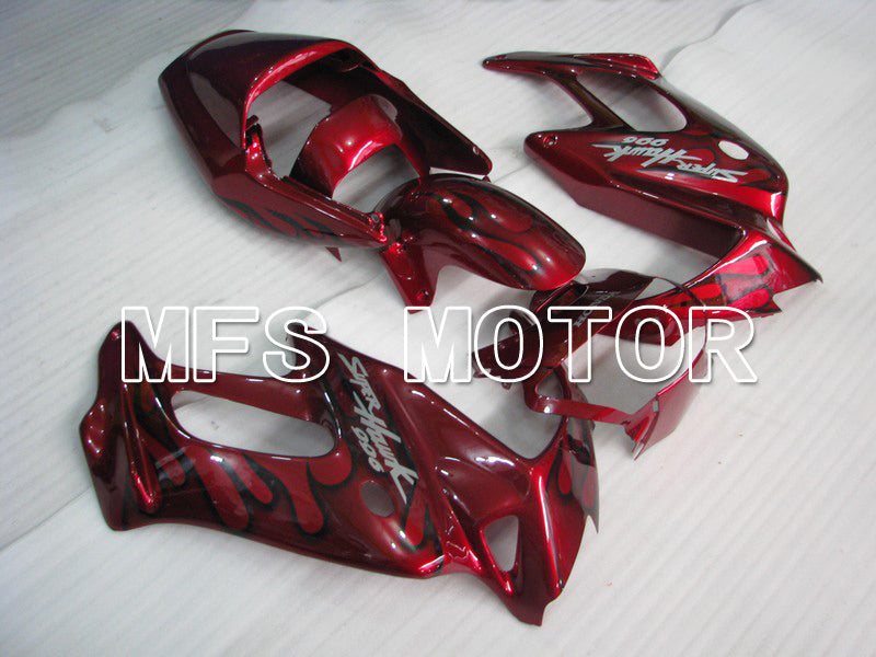 ABS Fairing For Honda VTR1000F 1997-1998 - Flame - Black Red Wine Color - MFS6407 - shopping and wholesale