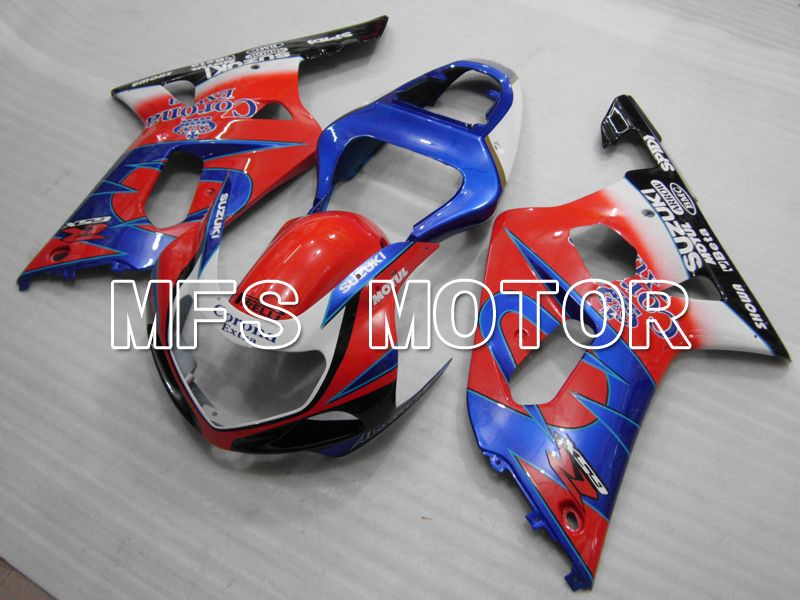Injection ABS Fairing For Suzuki GSXR600 2001-2003 - Corona - Blå Rød - MFS6420 - Shopping og engros