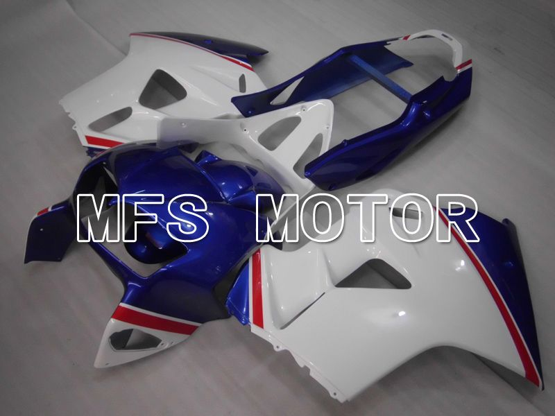 ABS Fairing For Honda VFR800 1998-2001 - Factory Style - Blue White - MFS6470 - shopping and wholesale