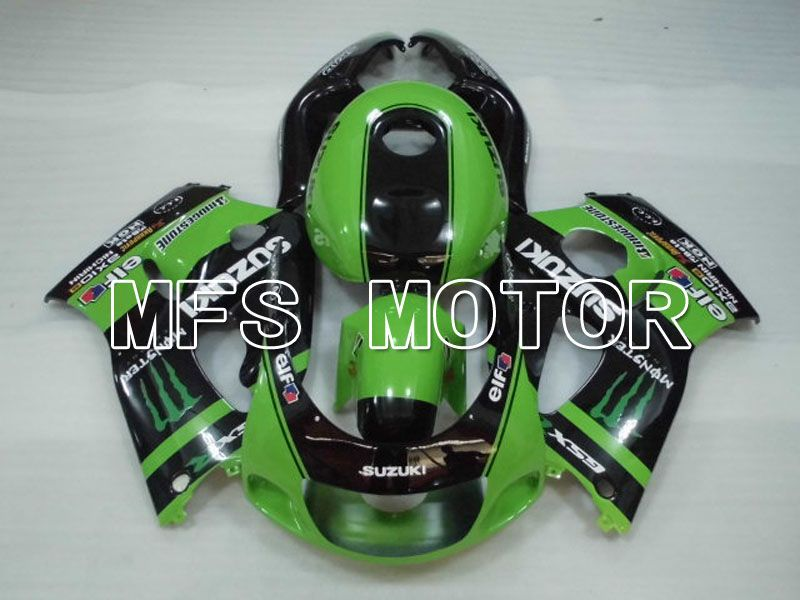 Carena ABS per Suzuki GSXR750 1996-1999 - Mostro - Black Green - MFS6878 - shopping e ingrosso