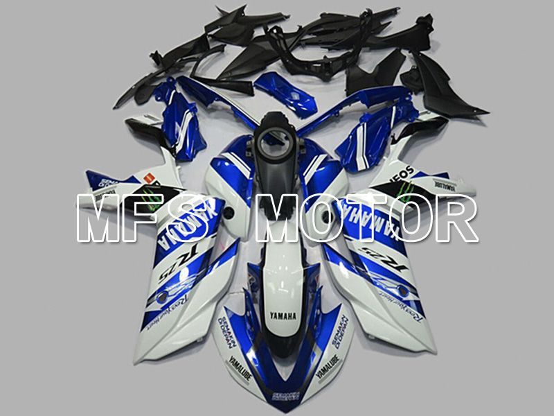 Injection ABS Fairing för Yamaha YZF-R3 R25 2014-2017 - Monster - Blåvit - MFS6926 - Shopping och grossist