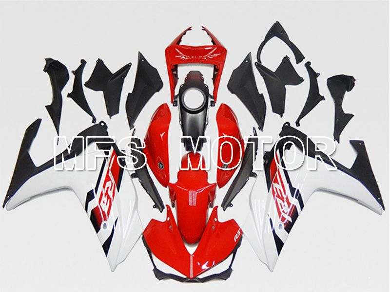 Injection ABS carénage pour Yamaha YZF-R3 R25 2014-2017 - Usine Style - Rouge Blanc - MFS6927 - Shopping et gros