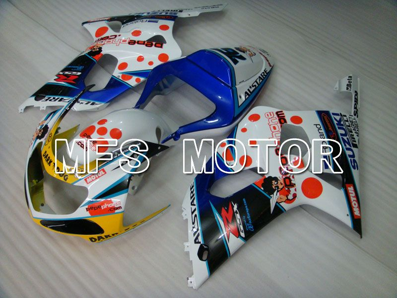 Injection ABS Fairing For Suzuki GSXR750 2000-2003 - Mørk Hund - Blå Hvid - MFS6934 - Shopping og engros