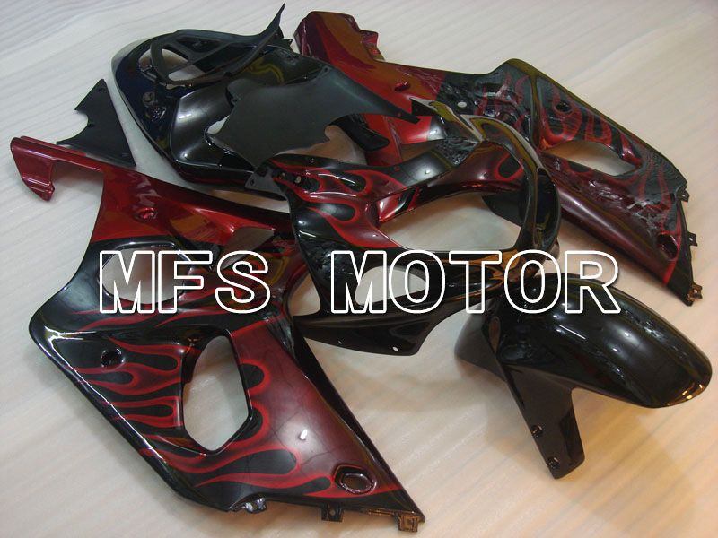 Injection ABS Fairing For Suzuki GSXR750 2000-2003 - Flamme - Sort - MFS6937 - Shopping og engros