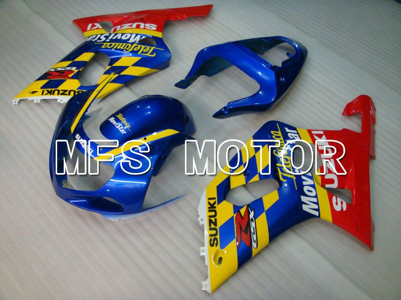 Injeksjon ABS Fairing For Suzuki GSXR750 2000-2003 - Movistar - Rød Blå - MFS6940 - Shopping og engros