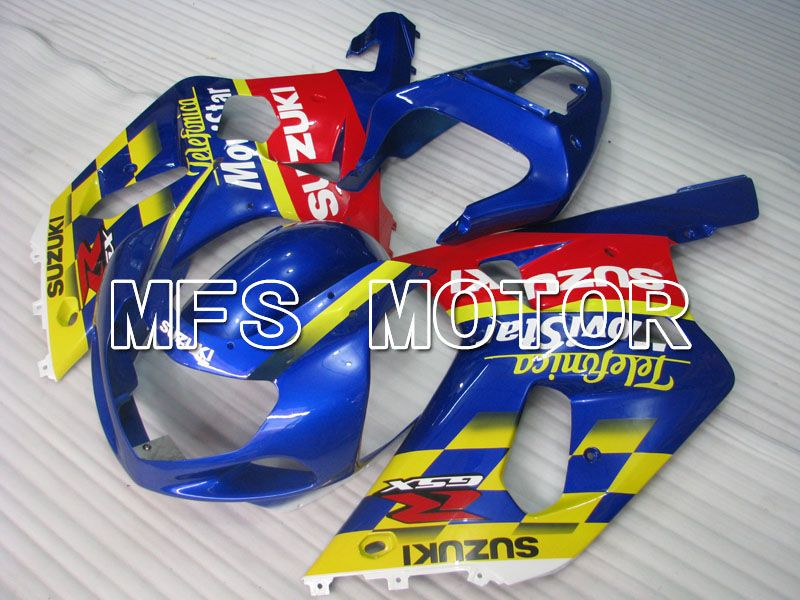 Injeksjon ABS Fairing For Suzuki GSXR750 2000-2003 - Movistar - Rød Blå - MFS6941 - Shopping og engros