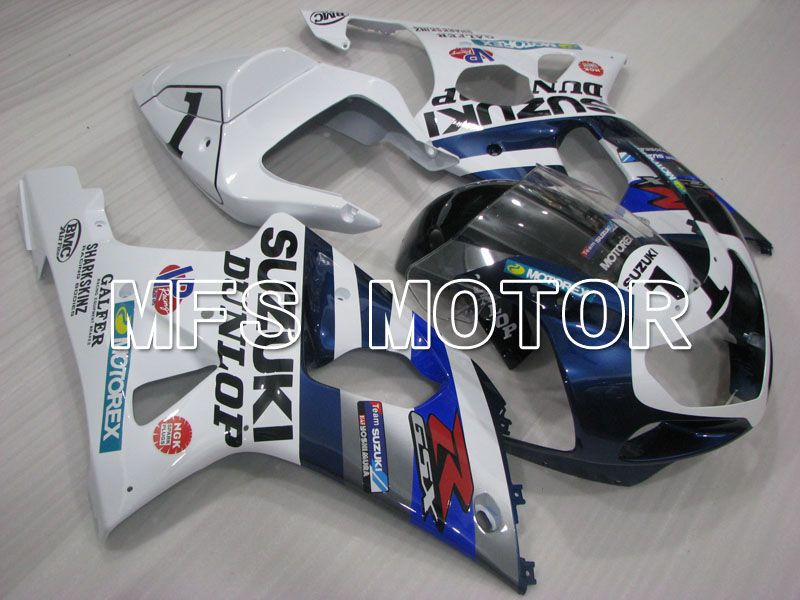 Injektion ABS Fairing For Suzuki GSXR750 2000-2003 - Fabriksstil - Hvid Blå - MFS6958 - Shopping og engros
