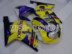 Injection ABS Fairing For Suzuki GSXR750 2000-2003 - Fabriksstil - Gul Lilla - MFS6959 - Shopping og engros