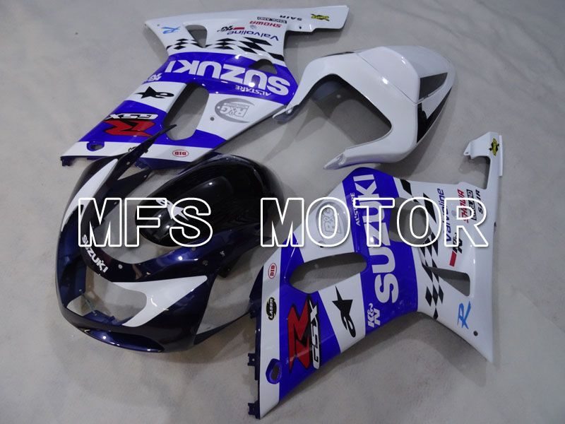 Injection ABS Fairing For Suzuki GSXR750 2000-2003 - MOTUL - White Blue - MFS6960 - shopping and wholesale