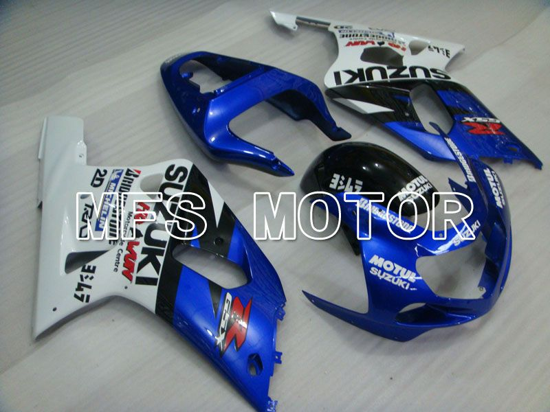Injection ABS Fairing For Suzuki GSXR750 2000-2003 - MOTUL - White Blue - MFS6972 - shopping and wholesale