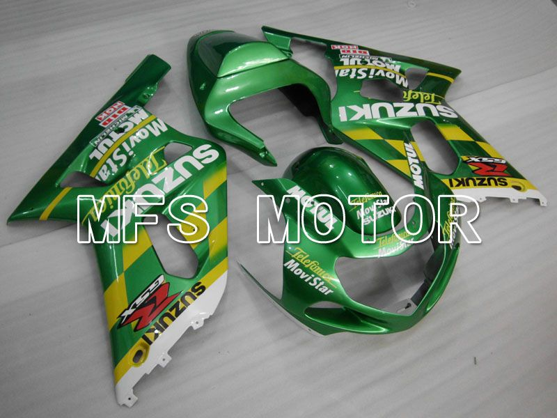 Injeksjon ABS Fairing For Suzuki GSXR750 2000-2003 - Movistar - Grønn - MFS6975 - Shopping og engros