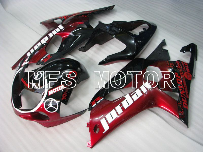 Injection ABS Fairing For Suzuki GSXR750 2000-2003 - Jordan - Svart Rød - MFS6990 - Shopping og engros