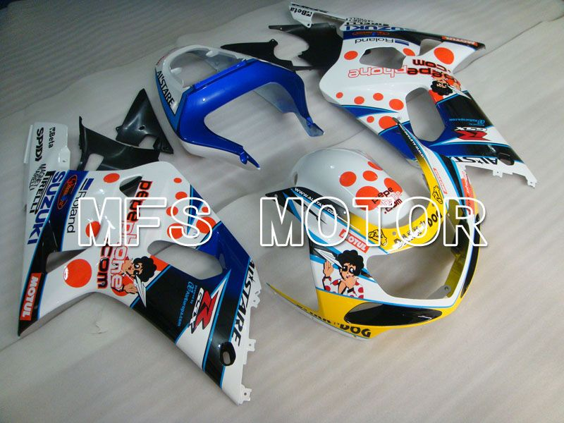 Injection ABS Fairing For Suzuki GSXR750 2000-2003 - MOTUL - Blue White - MFS6999 - shopping and wholesale