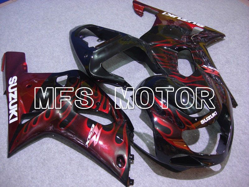 Injection ABS Fairing For Suzuki GSXR750 2000-2003 - Flamme - Svart Rødvin Farge - MFS7021 - Shopping og engros