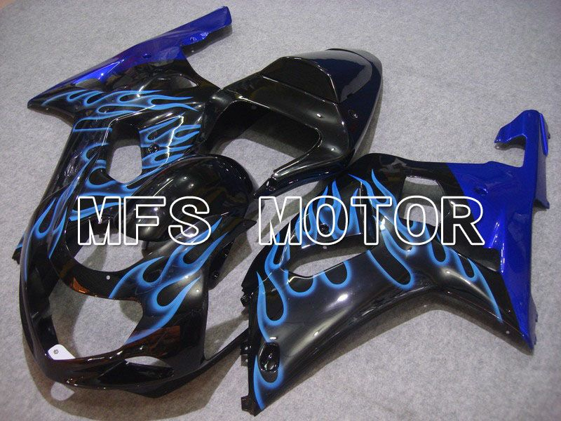 Injection ABS Fairing For Suzuki GSXR750 2000-2003 - Flame - Black Blue - MFS7022 - shopping and wholesale