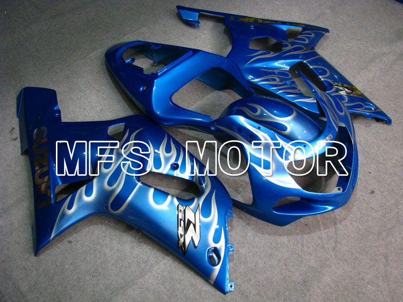 Injeksjon ABS Fairing For Suzuki GSXR750 2000-2003 - Flamme - Blå - MFS7024 - Shopping og engros