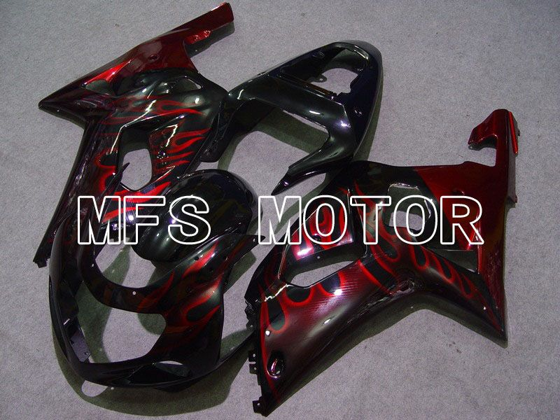 Injection ABS Fairing For Suzuki GSXR750 2000-2003 - Flamme - Svart Rødvin Farge - MFS7025 - Shopping og engros