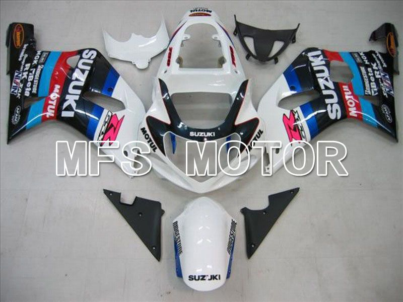 Injection ABS Fairing For Suzuki GSXR750 2000-2003 - MOTUL - White Black - MFS7028 - shopping and wholesale