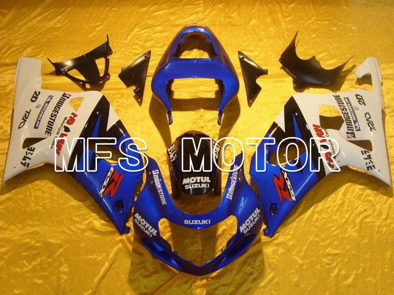 Injection ABS Fairing For Suzuki GSXR750 2000-2003 - MOTUL - White Blue - MFS7029 - shopping and wholesale